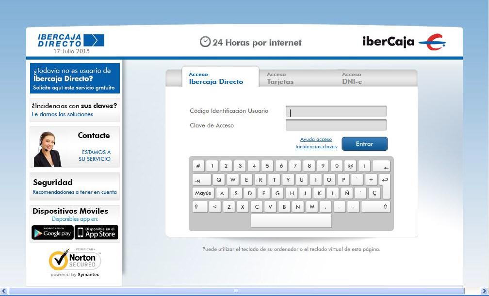 Practicas de internet for Ibercaja banco oficinas